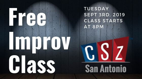 Come check out what this Improv thing is!! It's a free workshop to see just how fun improv is.